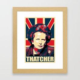 Margaret Thatcher Propaganda Framed Art Print