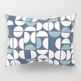 Geometric moon pattern 9 Classic Blue Pillow Sham