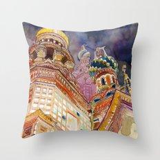 Saint Petersburg Throw Pillow