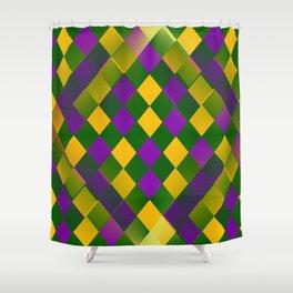 Harlequin Mardi Gras pattern Shower Curtain