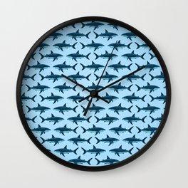 Pattern: Great White Shark  ~ Light Blue ~ (Copyright 2015) Wall Clock