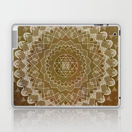 Golden Mandala Laptop & iPad Skin