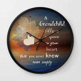A Grandchild Wall Clock