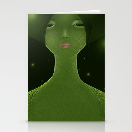 Woman_snake Stationery Cards