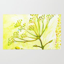 Tansy and Great mullein Rug