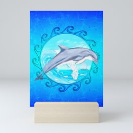 Dolphin Maori Sun Mini Art Print