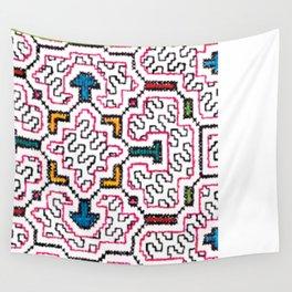 Physical Healing Icaro - Traditional Shipibo Art - Indigenous Ayahuasca Patterns Wall Tapestry