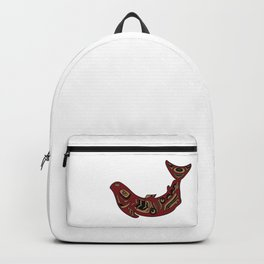 Pacific Northwest Salmon Native American Indian Art Backpack