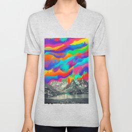 Skyfall, Melting Northern Lights Unisex V-Neck