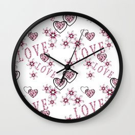 Openwork pattern with hearts. Wall Clock