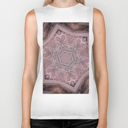 Hearts (from white wires and assorted Laterite stone bits) Biker Tank