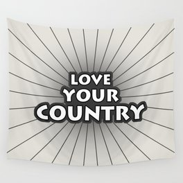 Love Your Country Wall Tapestry