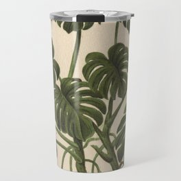 1800s Encyclopedia Lithograph of Philodendron Plant Travel Mug