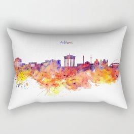 Athens Skyline Rectangular Pillow