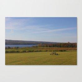 Table Overlooking Seneca Lake Canvas Print