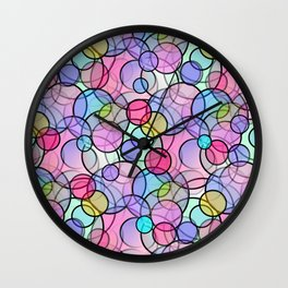 Pastel Circles Wall Clock