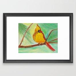 Yellow Bird Framed Art Print