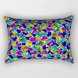 Abstract Hippie Mosaic Tiles Pattern Rectangular Pillow