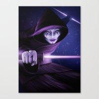 jedi Canvas Prints featuring Lady Jedi by Jordygraph