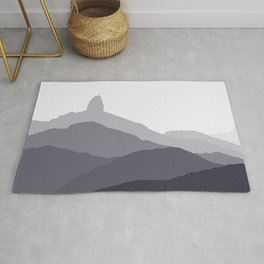 Black Tusk Mountain, Whistler Canada in grey Rug