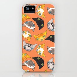 """Oro?"" Cats-Salmon Color iPhone Case"