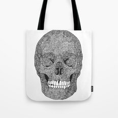 Skull and Spirals - WHITE Tote Bag
