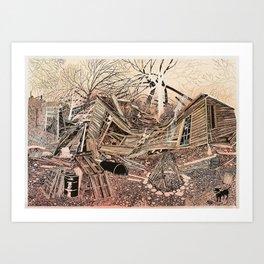 House For Sale (Bonfire) Art Print