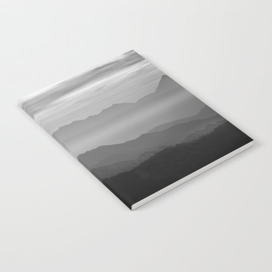 Misty mountains Notebook