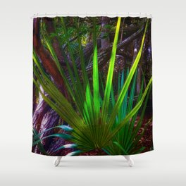 Sunlight comes to the forest. Shower Curtain