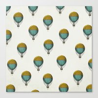 hot air balloons Canvas Prints featuring Hot Air Balloons by Juste Pixx Designs