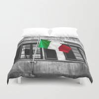 italian Duvet Covers featuring Italian Pride by Liesl Marelli