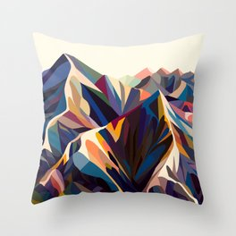 Mountains original Throw Pillow