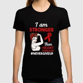 Heart Cardiovascular Disease Awareness design for Women T-shirt