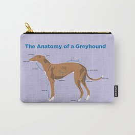The Anatomy of a Greyhound - Red Carry-All Pouch