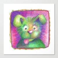 puppy Canvas Prints featuring Puppy by Chris Winn