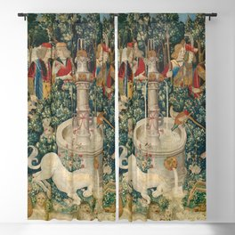 The Unicorn is Attacked (from the Unicorn Tapestries) 1495–1505 Blackout Curtain