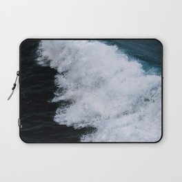 Powerful breaking wave in the Atlantic Ocean - Landscape Photography Laptop Sleeve