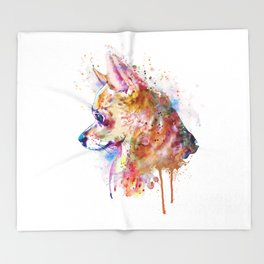 Watercolor Chihuahua Throw Blanket