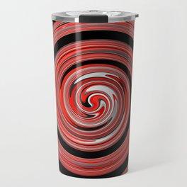 Red waves Travel Mug
