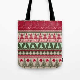 Pine Tree Ugly Sweater Tote Bag