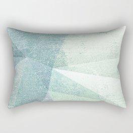 Frozen Geometry - Teal & Turquoise Rectangular Pillow