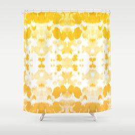 Ink mirror yellow Shower Curtain