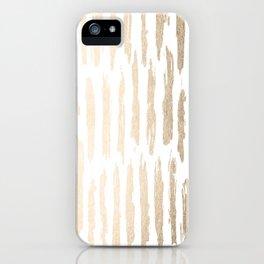 White Gold Sands Vertical Dash iPhone Case