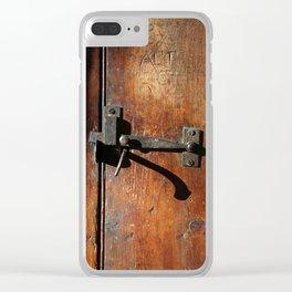 Antique Wooden Door, Circa 1840 Clear iPhone Case