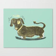 Bad Dog! (The Little Dachshund That Didn't) Canvas Print