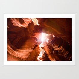 The Canyon (Color) Art Print