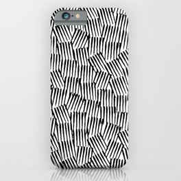 Crosshatched yourself iPhone Case