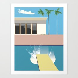 Swimming Pool, Art Print