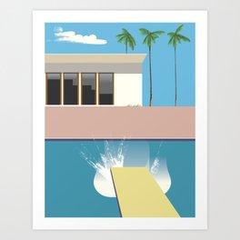 Swimming Pool, Art Print