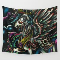 my little pony Wall Tapestries featuring My Little pony ZOMBIE Friendship is Magic by Zombies by RickOrmortis Schreck